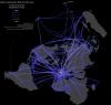 World Air Traffic Maps 1990