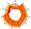 Parallel Coordinates (circular layout + Catmull-Rom splines)