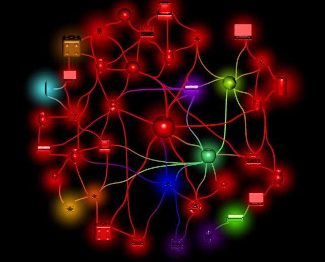 3d model glyphs + glow effect preview